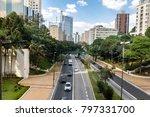 9 de julho avenue view   sao... | Shutterstock . vector #797331700