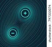 vector abstract illustration... | Shutterstock .eps vector #797333074