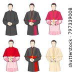 roman catholic uniforms | Shutterstock .eps vector #797339008
