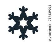 snowflake icon  vector simple... | Shutterstock .eps vector #797339038