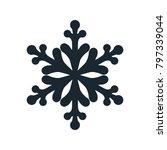 snowflake icon  vector simple... | Shutterstock .eps vector #797339044