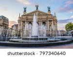 lviv theatre of opera and ballet | Shutterstock . vector #797340640