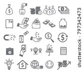 money icon set   Shutterstock .eps vector #797342473