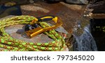 climbing rope and an ascender... | Shutterstock . vector #797345020