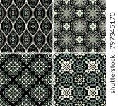 seamless decorative vector...   Shutterstock .eps vector #797345170