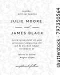 vintage wedding invitation... | Shutterstock .eps vector #797350564