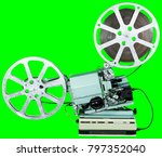 a movie projector is an opto... | Shutterstock . vector #797352040