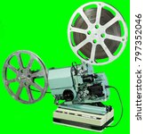 a movie projector is an opto... | Shutterstock . vector #797352046