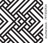 black and white geometric... | Shutterstock .eps vector #797353924