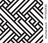 black and white geometric... | Shutterstock .eps vector #797353930