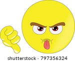 hate logo emoticon | Shutterstock .eps vector #797356324