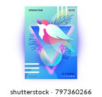 bird in springtime vibrant... | Shutterstock .eps vector #797360266