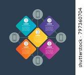 social media digital... | Shutterstock .eps vector #797360704