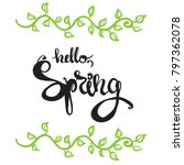 card with spring  text and... | Shutterstock .eps vector #797362078