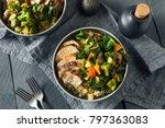 healthy chicken and quinoa bowl ...   Shutterstock . vector #797363083