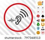 listen and transmit grey icon... | Shutterstock .eps vector #797368513
