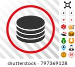 coin stack gray icon inside red ...