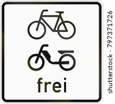 supplementary road sign used in ...   Shutterstock . vector #797371726