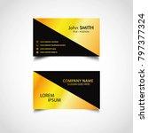 golden business card template ... | Shutterstock .eps vector #797377324