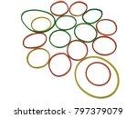 rubber plastic band on white... | Shutterstock . vector #797379079