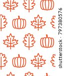 seamless pattern of outline...   Shutterstock .eps vector #797380576