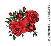 red rose cartoon vector for... | Shutterstock .eps vector #797381968