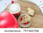 valentine's day  biscuits and... | Shutterstock . vector #797383708