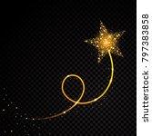 gold glittering spiral star... | Shutterstock .eps vector #797383858