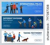 international police force... | Shutterstock . vector #797387308