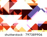 geometric background of... | Shutterstock . vector #797389906