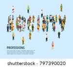 social people isometric... | Shutterstock . vector #797390020