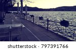 empty tables and chairs in a... | Shutterstock . vector #797391766