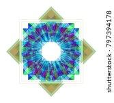 Blue Jewel Centered Simulated...