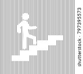 man on stairs going up. vector. ... | Shutterstock .eps vector #797395573