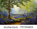 Spring Forest. Flowers. Oil...