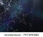 plexus fantasy abstract... | Shutterstock . vector #797399380