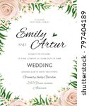 wedding floral watercolor style ... | Shutterstock .eps vector #797404189