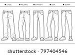 men's denim fits  loose ... | Shutterstock .eps vector #797404546