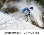 extreme cyclist riding bicycle... | Shutterstock . vector #797406766