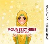 muslim woman wearing hijab veil ... | Shutterstock .eps vector #797407939
