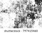 grunge black and white pattern. ... | Shutterstock . vector #797415460