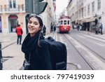 female traveler woman... | Shutterstock . vector #797419039