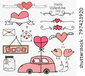 happy valentine day. set of... | Shutterstock .eps vector #797423920