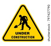 under construction sign | Shutterstock .eps vector #797427790