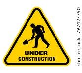 under construction sign | Shutterstock .eps vector #797427790