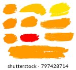 collection of hand drawn golden ... | Shutterstock .eps vector #797428714