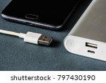 power bank for charging mobile... | Shutterstock . vector #797430190