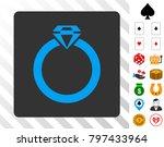diamond ring blue icon inside...