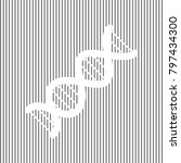 the dna sign. vector. white... | Shutterstock .eps vector #797434300