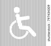 disabled sign illustration.... | Shutterstock .eps vector #797434309